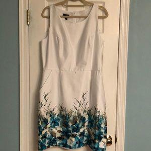 Teal Floral Cotton Dress